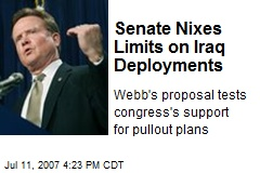 Senate Nixes Limits on Iraq Deployments