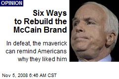 Six Ways to Rebuild the McCain Brand