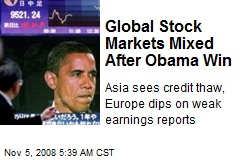 Global Stock Markets Mixed After Obama Win