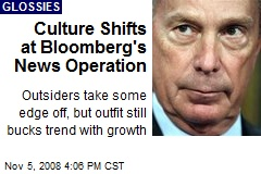 Culture Shifts at Bloomberg's News Operation