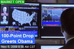 100-Point Drop Greets Obama
