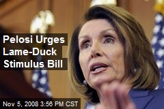 Pelosi Urges Lame-Duck Stimulus Bill
