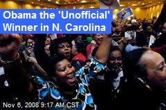 Obama the 'Unofficial' Winner in N. Carolina