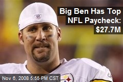 Big Ben Has Top NFL Paycheck: $27.7M