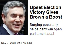 Upset Election Victory Gives Brown a Boost