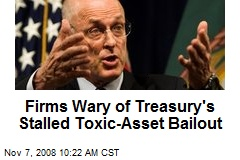 Firms Wary of Treasury's Stalled Toxic-Asset Bailout