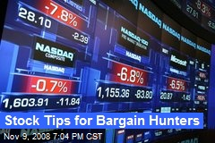 Stock Tips for Bargain Hunters