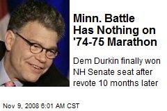 Minn. Battle Has Nothing on '74-75 Marathon