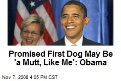 Promised First Dog May Be 'a Mutt, Like Me': Obama