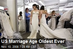 US Marriage Age Oldest Ever