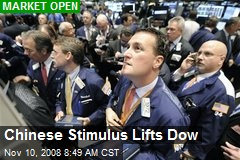 Chinese Stimulus Lifts Dow