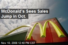 McDonald's Sees Sales Jump in Oct.