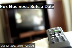 Fox Business Sets a Date