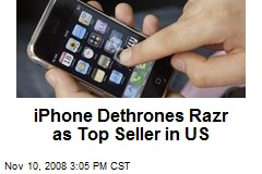 iPhone Dethrones Razr as Top Seller in US
