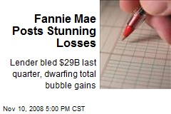 Fannie Mae Posts Stunning Losses