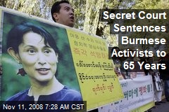 Secret Court Sentences Burmese Activists to 65 Years