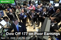 Dow Off 177 on Poor Earnings