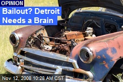 Bailout? Detroit Needs a Brain