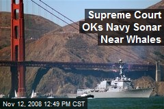 Supreme Court OKs Navy Sonar Near Whales