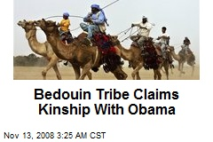Bedouin Tribe Claims Kinship With Obama
