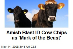 Amish Blast ID Cow Chips as 'Mark of the Beast'