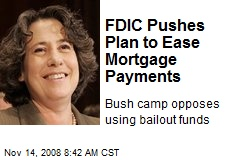 FDIC Pushes Plan to Ease Mortgage Payments