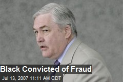 Black Convicted of Fraud