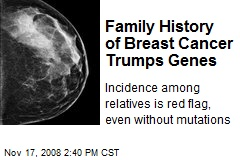 Family History of Breast Cancer Trumps Genes