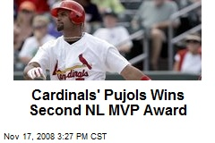 Cardinals' Pujols Wins Second NL MVP Award
