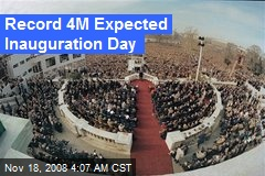 Record 4M Expected Inauguration Day
