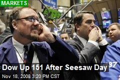 Dow Up 151 After Seesaw Day