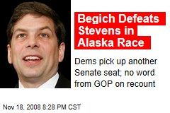 Begich Defeats Stevens in Alaska Race