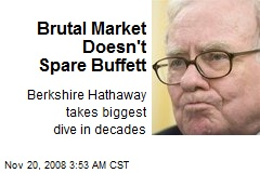 Brutal Market Doesn't Spare Buffett