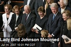 Lady Bird Johnson Mourned