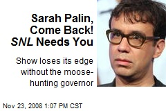 Sarah Palin, Come Back! SNL Needs You