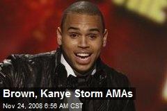Brown, Kanye Storm AMAs