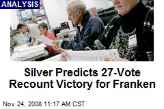 Silver Predicts 27-Vote Recount Victory for Franken