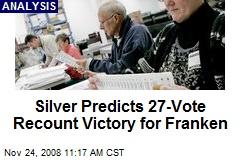 Silver Predicts 27-Vote Recount Victory for Franken