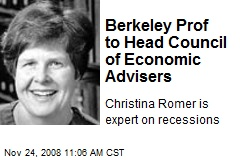 Berkeley Prof to Head Council of Economic Advisers