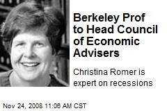 Berkeley Prof to Head Council of Economic Advisers
