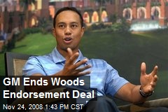 GM Ends Woods Endorsement Deal