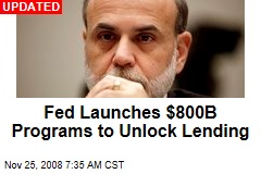 Fed Launches $800B Programs to Unlock Lending