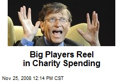 Big Players Reel in Charity Spending
