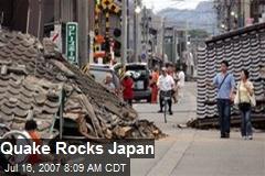 Quake Rocks Japan