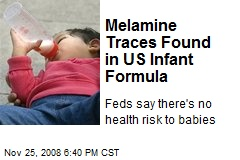 Melamine Traces Found in US Infant Formula