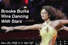 Brooke Burke Wins Dancing With Stars
