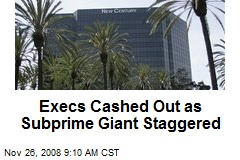 Execs Cashed Out as Subprime Giant Staggered