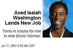 Axed Isaiah Washington Lands New Job