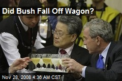 Did Bush Fall Off Wagon?