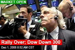 Rally Over; Dow Down 300